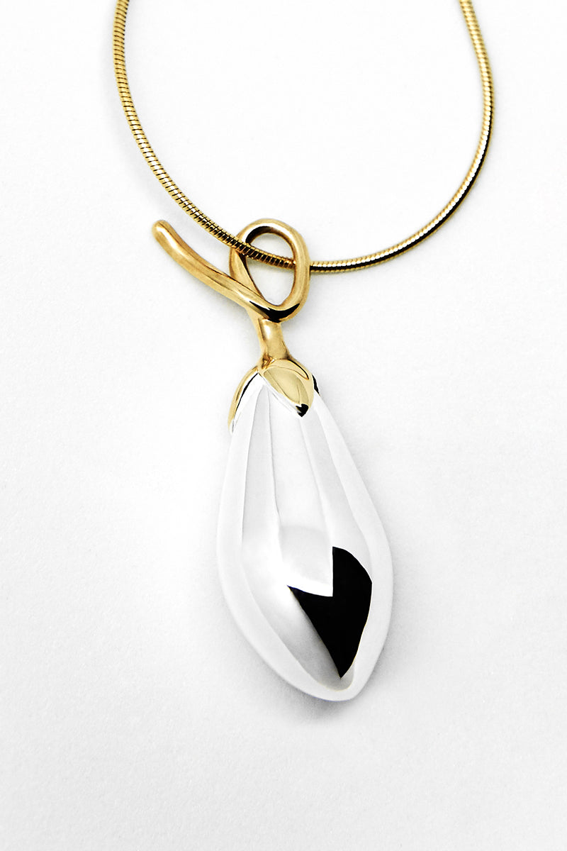 ADELHEID PENDANT LARGE, SILVER/GOLD