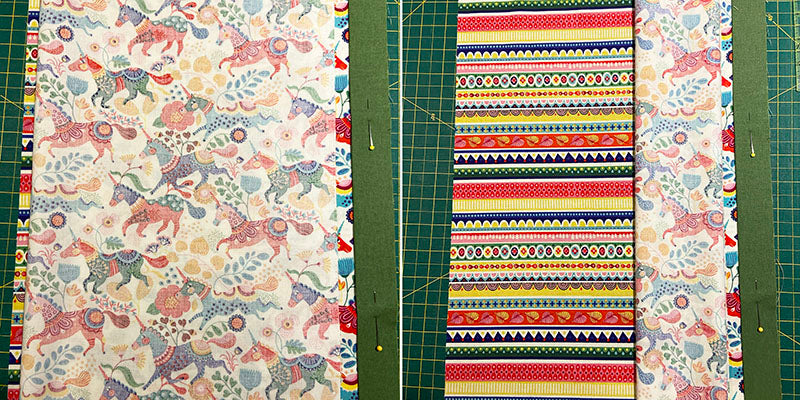 rolling up the main pillowcase fabric
