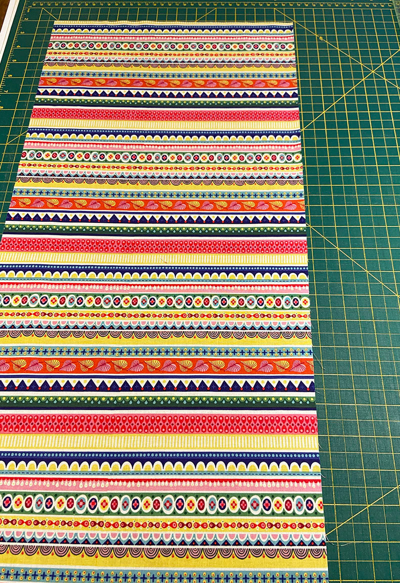 cuff fabric laid out for assembly