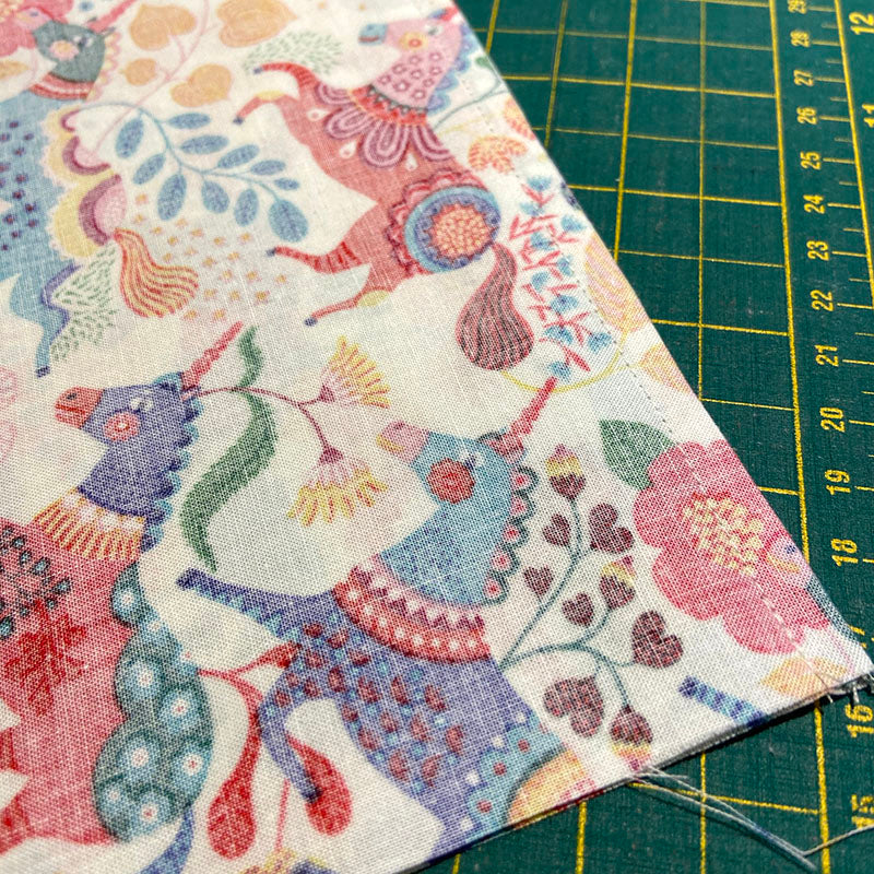 completed french seam