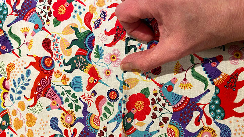 finger press your seam to help it lay flat