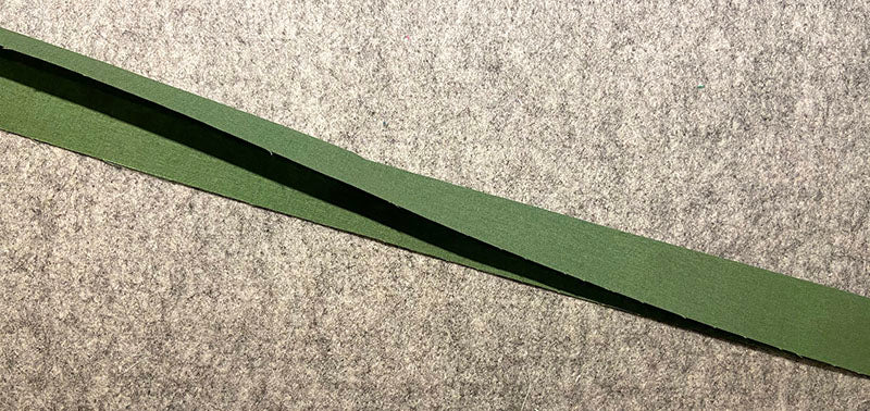 iron the accent strip lengthwise