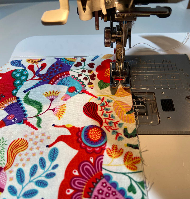 joining the two main pillowcase pieces