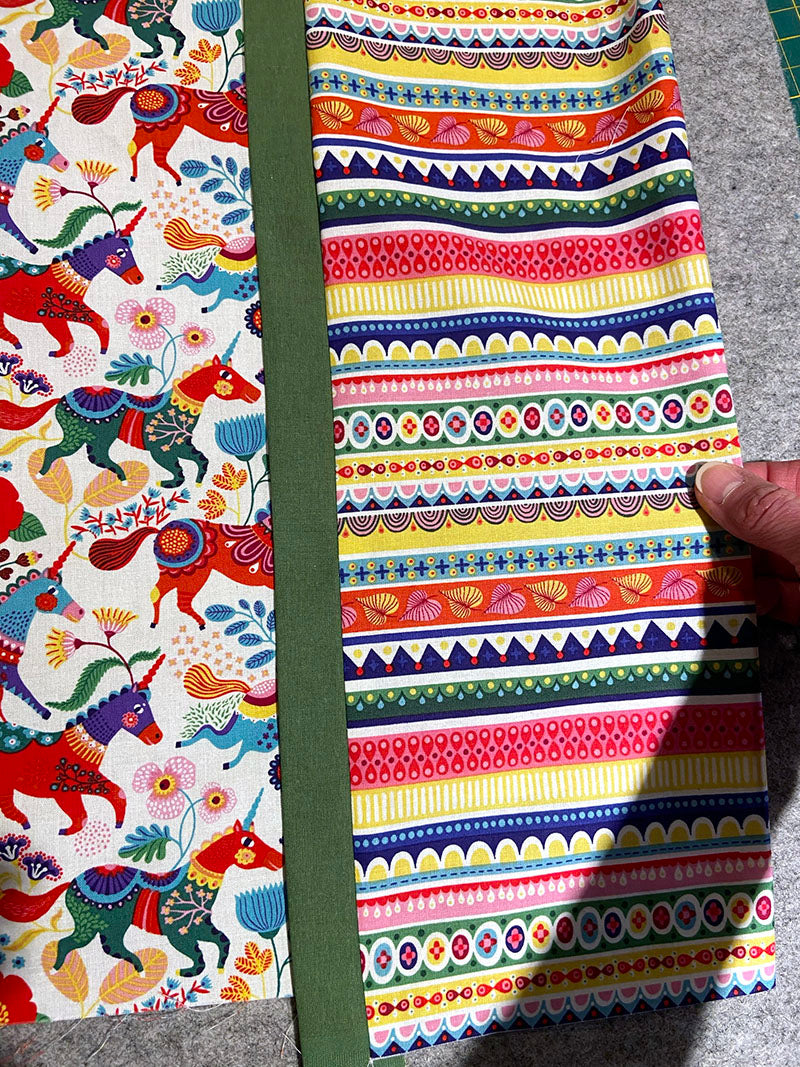 pull out the cuff fabric and press