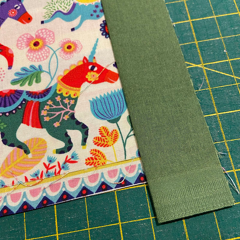 The three layers only need to line up at one end. This is the messy end that will be trimmed later. see that