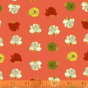 Roses on Coral by Heather Ross