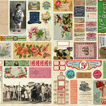 Flea Market Mix Ephemera in Parchment by Cathe Holden for Moda
