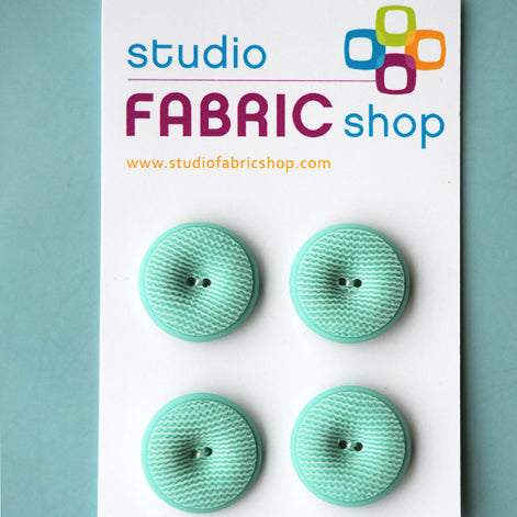 Aqua vintage-look textured buttons (23mm)