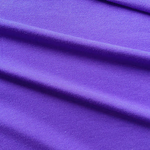 Bamboo Stretch French Terry in Purple