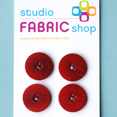 Vintage dark red buttons (22mm)