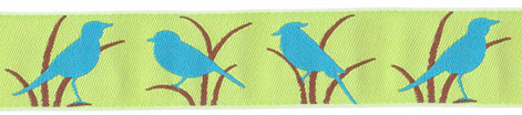Blue Birds Ribbon (23mm)