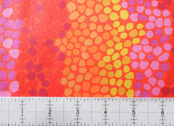 Pebble Mosaic in Orange by Brandon Mably for the Kaffe Fassett Collective