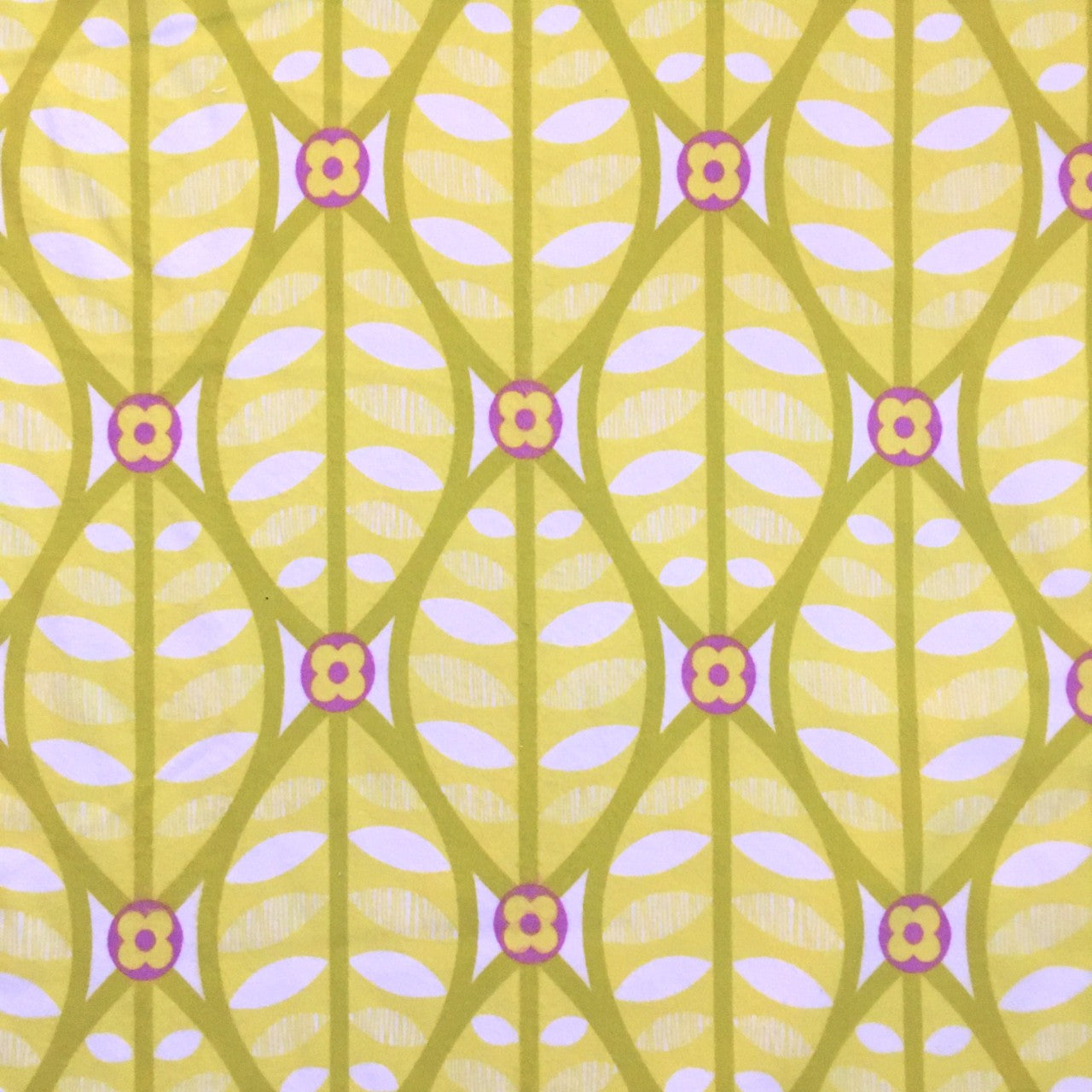 Buttonwood FLANNEL in citron yellow by Erin McMorris
