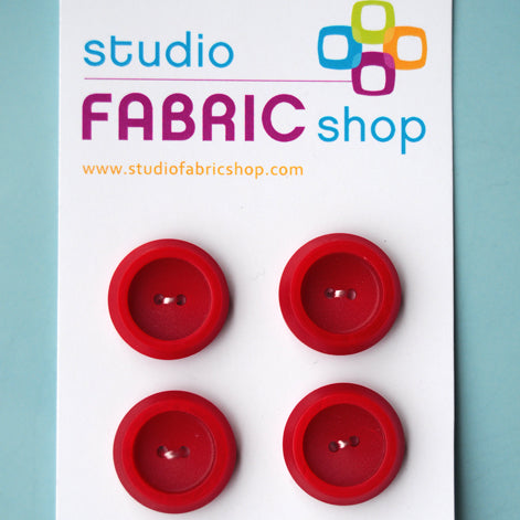 Chunky red buttons (20mm)