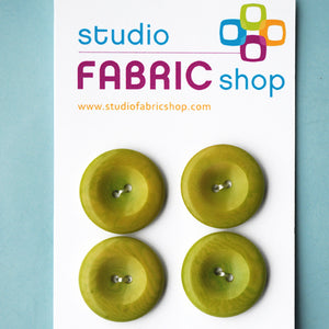 Vintage avocado green buttons (25mm)