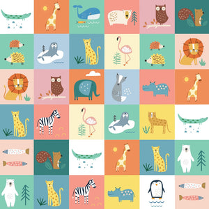 Animal Squares by Dashwood Studio