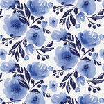Nonna Floral Indigo by Erin Borja for Paintbrush Studio Fabrics