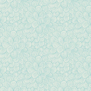 Make Today Awesome Petals in Turquoise by Clothworks