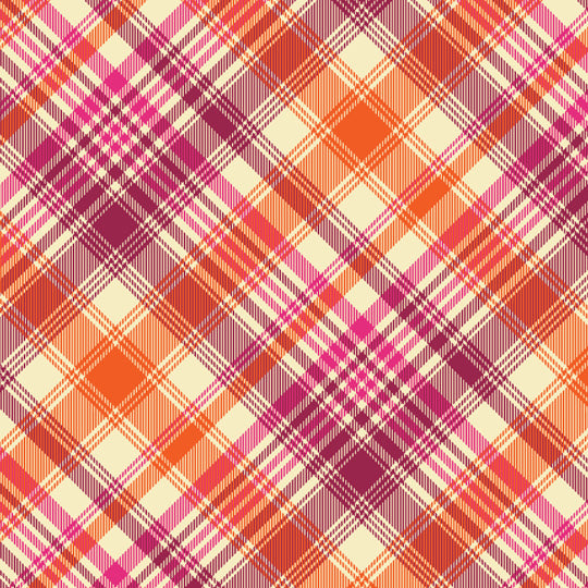 Precuts: Tartan in Tangerine by Joel Dewberry