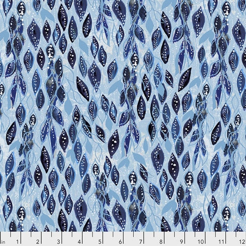 Dreamy Vines in Indigo by Kelli May-Krenz for Free Spirit