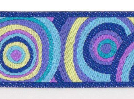 Purple Targets Ribbon by Kaffe Fassett (22mm)