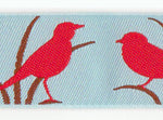 Red Birds Ribbon (23mm)