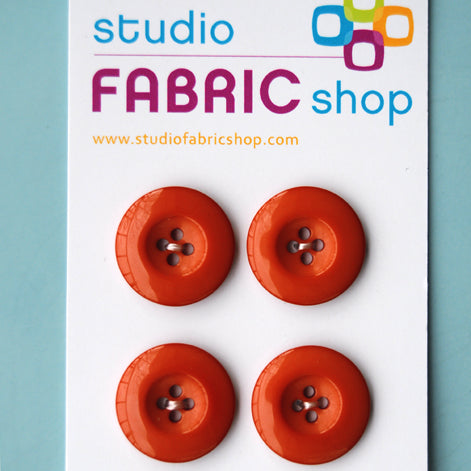 Rust-coloured buttons (23mm)