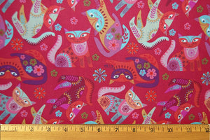 Stitch Cats in Red by Clothworks
