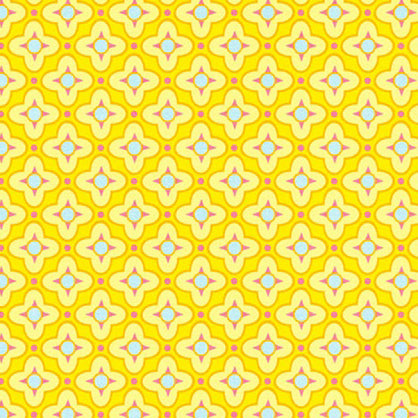 Precuts: Tiled Primrose in Canary by Heather Bailey