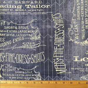 Tailored in Blue by Tim Holtz for Free Spirit