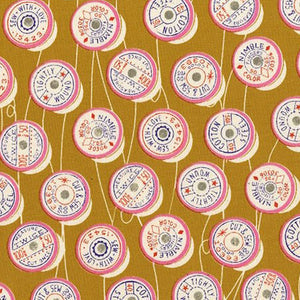 Trinket Spools in Yellow by Melody Miller