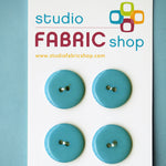 Flat teal blue buttons (23mm)