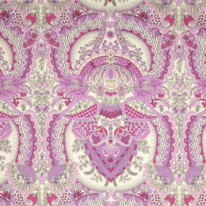 "Flora COTTON SATEEN 59"" WIDE in Berry by Amy Butler"