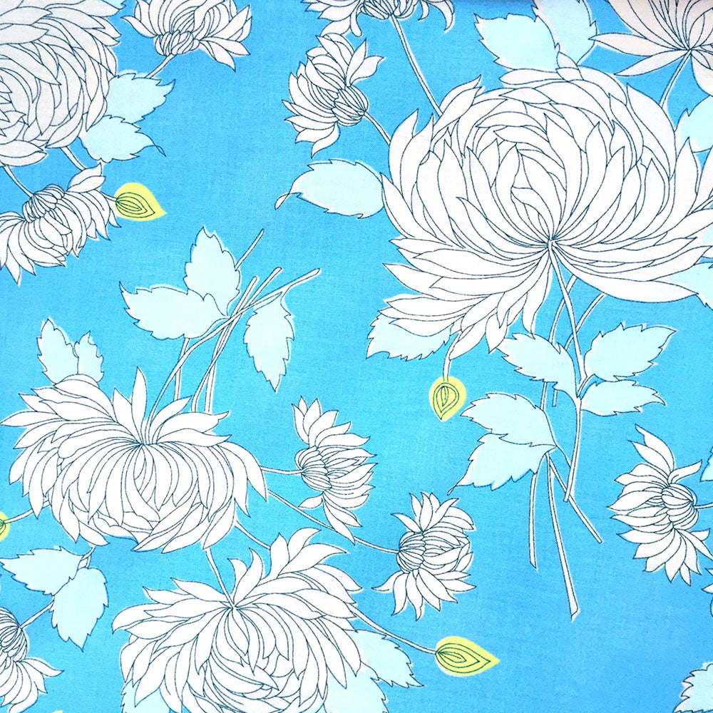 Precuts: Chrysanthemum in Blue by Amy Butler