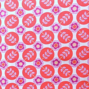 Floradots in Coral by Erin McMorris