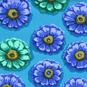 Precuts: Zinnia in Blue by Kaffe Fassett