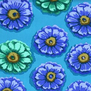Zinnia by Kaffe Fassett in blue