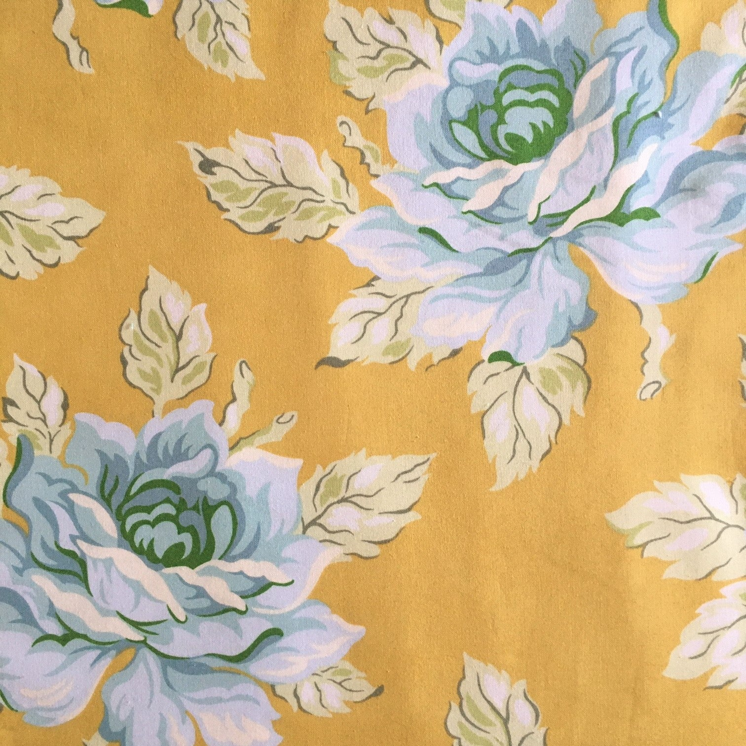 Hello Roses fabric by Heather Bailey in gold