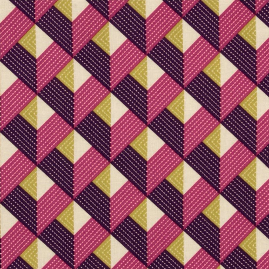 Chevron Strip fabric in purple by Joel Dewberry