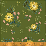 Large Floral in Avocado by Amy Gibson for Windham Fabrics