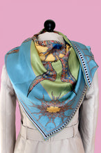 Blue/ Green Silk Scarf