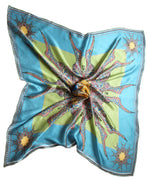 Blue/ Green Butterfly Circle,irish fashion print designer