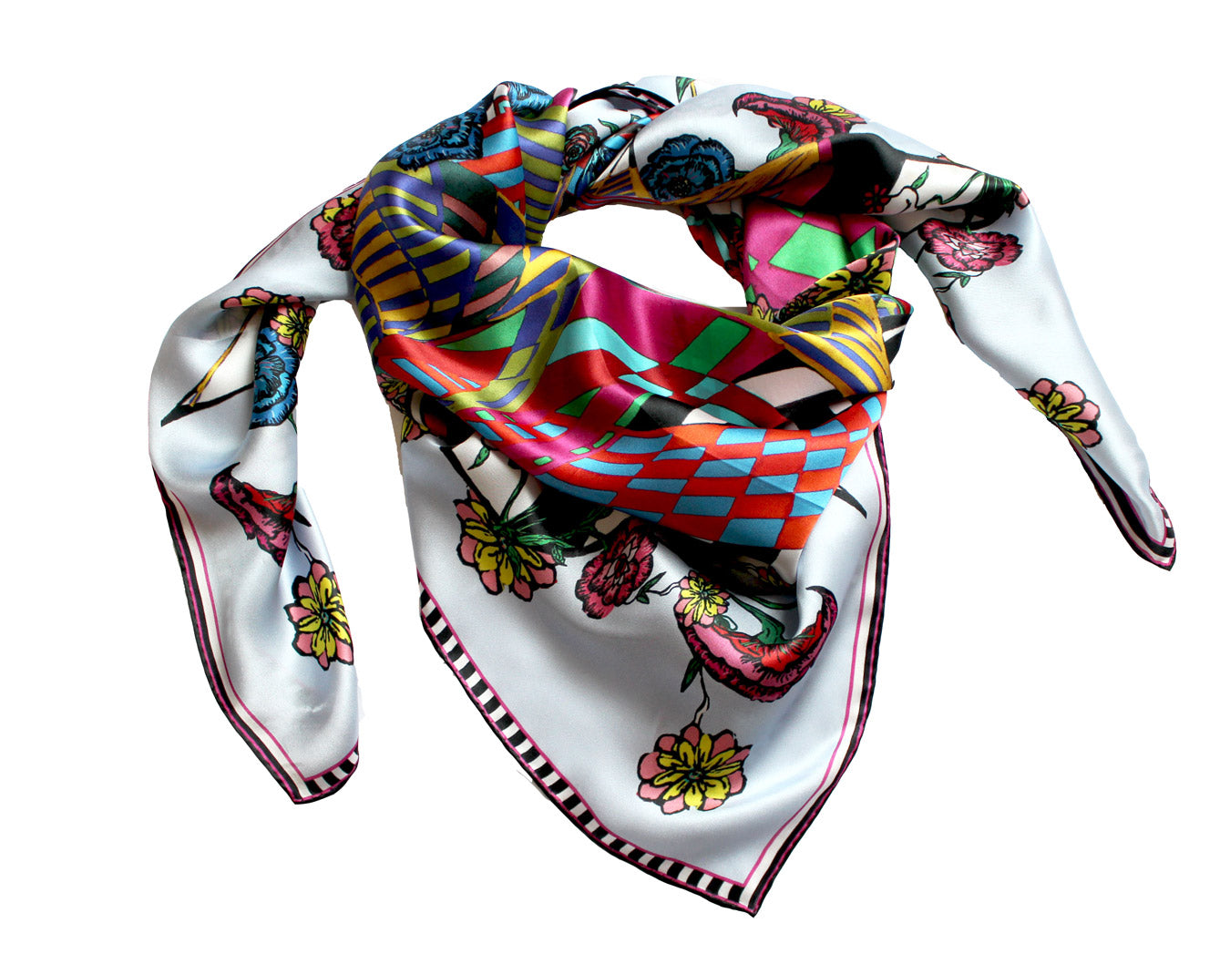 Flower Burst, Silk Scarf