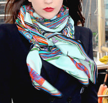 'Bowing Birds' Cotton/Silk Scarf