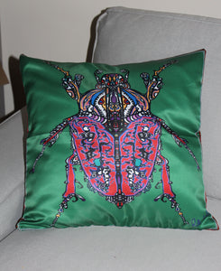 Green Beetle Cushion