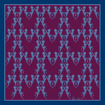 Purple Horse Dance, 100% Silk Twill, 45cm Square