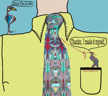 100% Silk Twill Tie Buildings Inspired