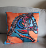 Orange Horse Corsage Cushion