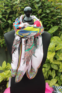 Perfect Home Cotton/Silk Scarf RITAWHITE large scarf
