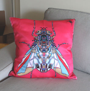 Pink Funky Fly Cushion